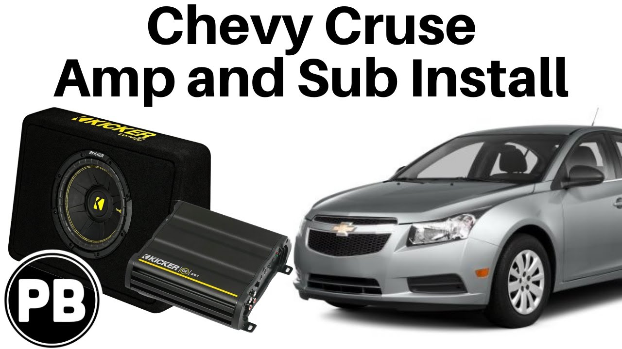 2011 - 2015 Chevy Cruze Kicker Amplifier and Subwoofer Install - YouTube