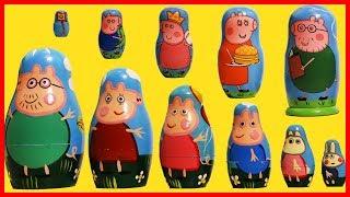 粉紅豬小妹佩佩豬的套娃玩具出奇蛋