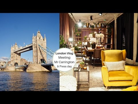 London Vlog, Meeting Mr Carrington and dfs press day