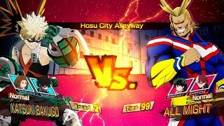 My Hero Academia: One's Justice - All Might vs Bakugo Full Match Gameplay EXCLUSIVE!