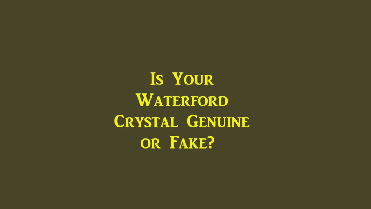 Dates waterford marks Porcelain and