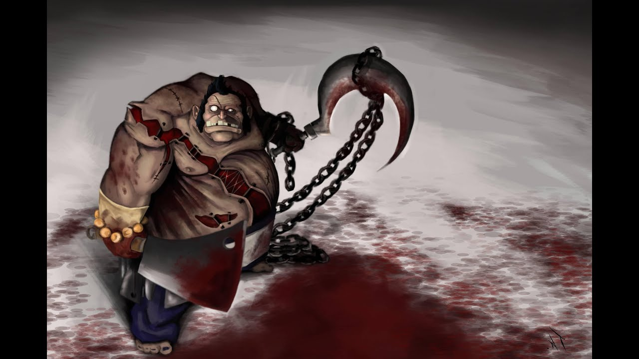 how to draw dota 2 hero 3d pudge the butcher full hd draw