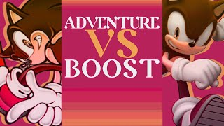 Adventure VS Boost Gameplay - A Sonic Diatribe