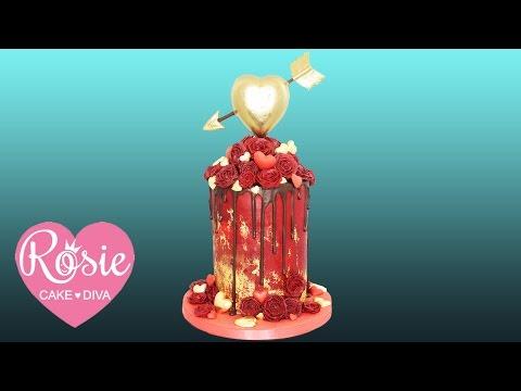 Heart of Gold Pinata Cake