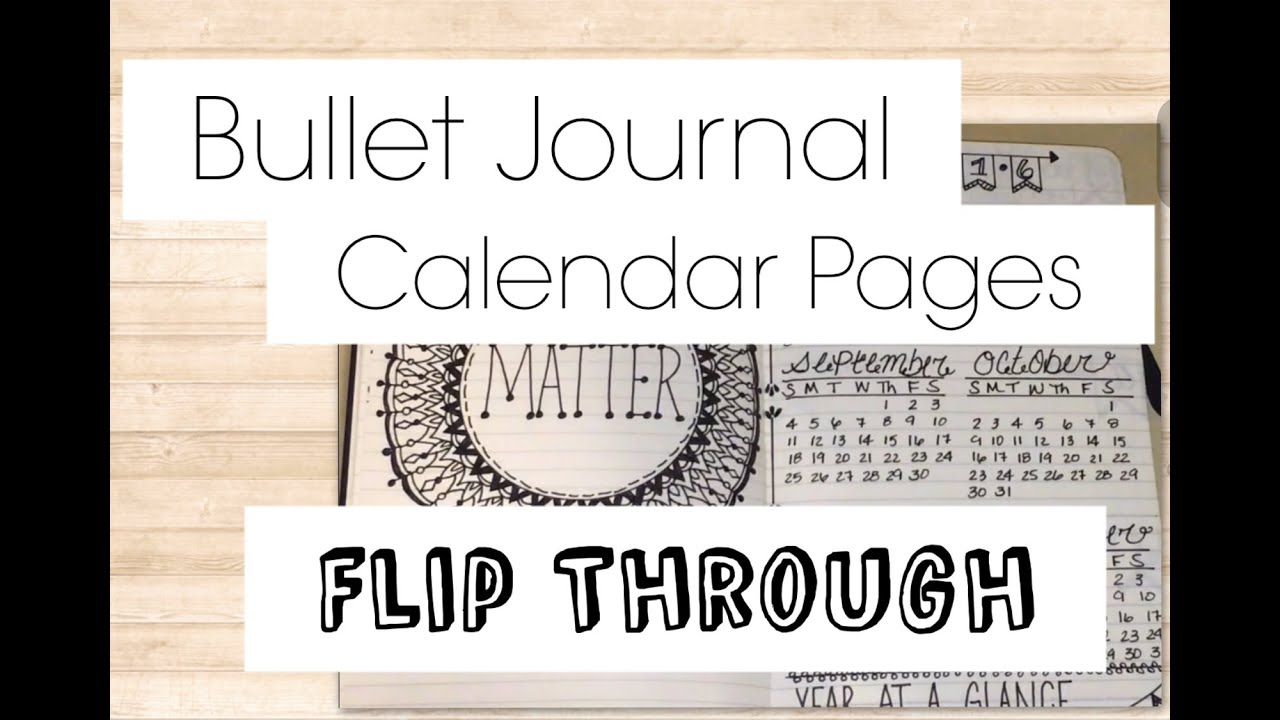 BULLET JOURNAL Flip Thru | Calendar Layout Pages | Handwritten Fonts ...
