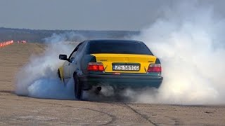 BMW E36 Drift Massive Burnout & Donuts