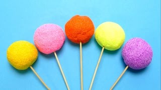 Fancy Foam Lollipops with Surprise Egg Toys
