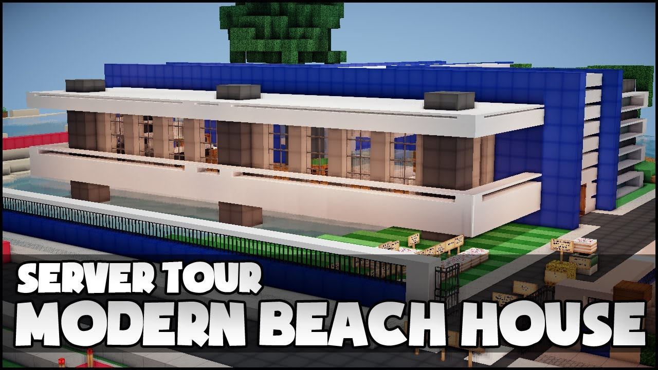 Minecraft - Modern Beach House - YouTube