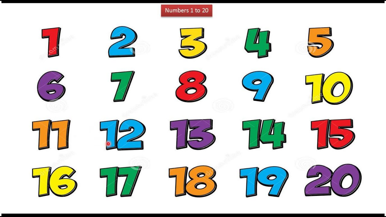 Kids : Numbers 1 To 20 (white)