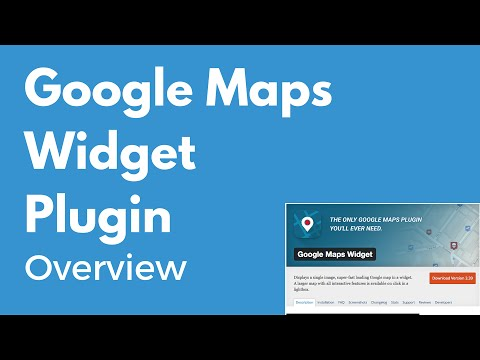 Google Maps Widget Plugin For WordPress   Display A Map On Your Website   Overview