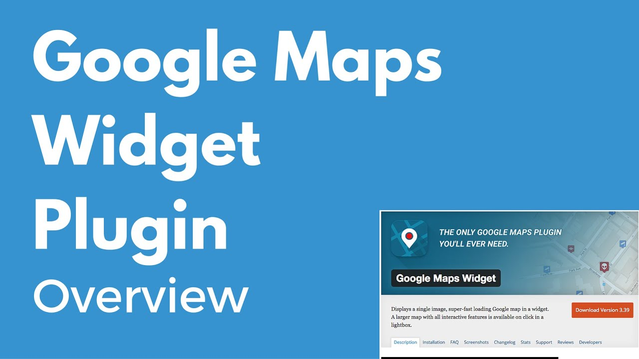 Google Maps Widget Plugin For Wordpress Display A Map On Your