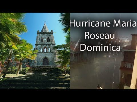 Roseau in Dominica before Hurricane Maria, capital, hotels, city centre cruises,