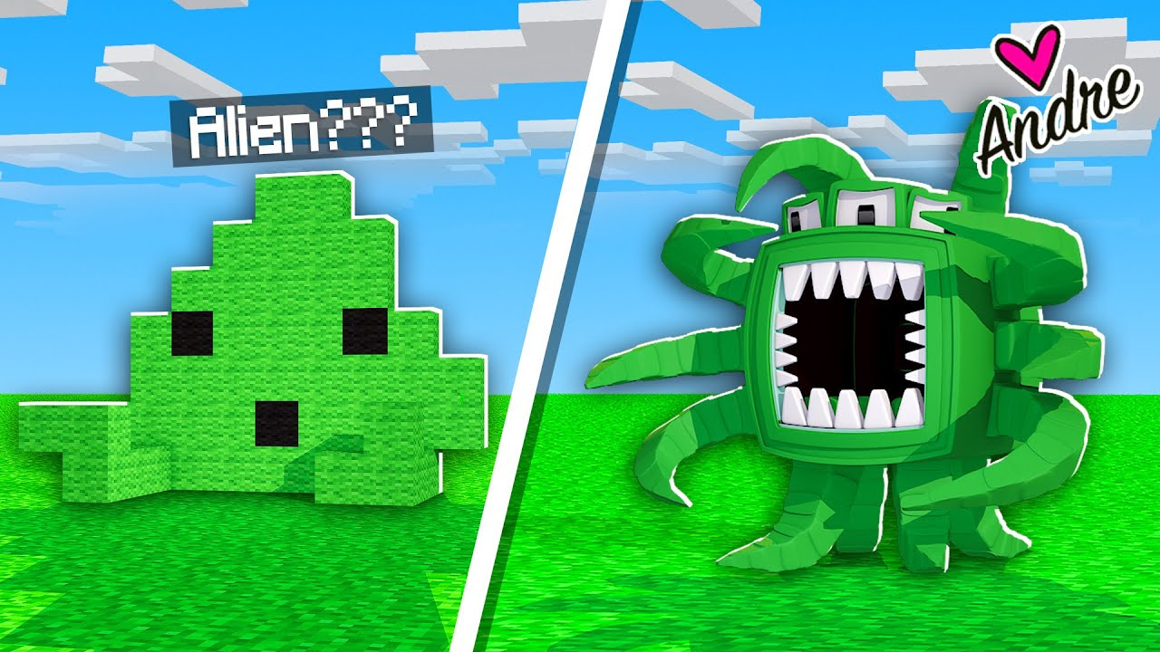 Minecraft Andre | Noob vs Pro Haciendo un Alien Challenge | Build Battle