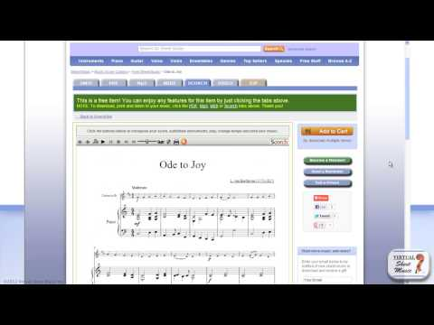 How to change instruments and transpose music with Scorch - Scorch Sheet Music Viewer Tutorial