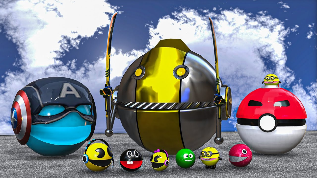 Download Pacman Captain America & Pokemon Pacman VS Monster Robot