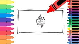 How to Draw a Guam Flag - Coloring Pages for kids - Drawing a Guamanian Flag | Tanimated Toys