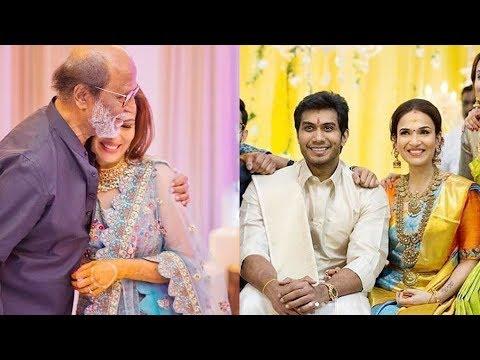 Rajinikanth's Very HAPPY AT Daughter Soundarya Marriage With Vishagan Vanangamudi
