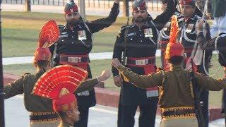 INDIAN BSF Vs PAKISTAN Rangers Parade Ceremony at Wagah Attari Border Video in 4k ultra Hd