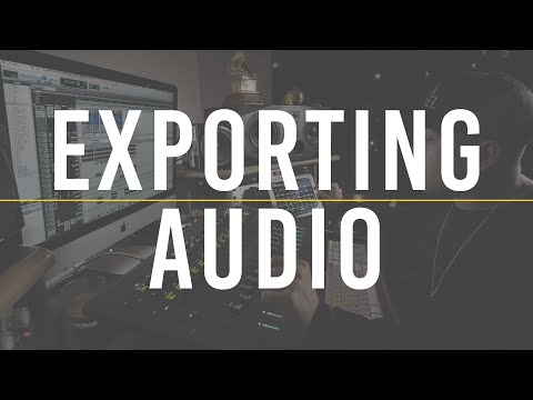 Exporting Audio From Your DAW | The Producer's Blog