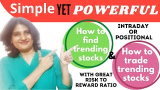 How To Find Trending Stocks & How To Trade Them! Great Risk To Reward Ratio