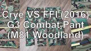 FFI VS Crye G3 Comabt Pant M81 Woodland