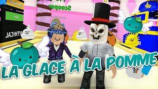 UNE GLACE A LA POMME CELESTE !? - Roblox Ice Cream Simulator avec Mary