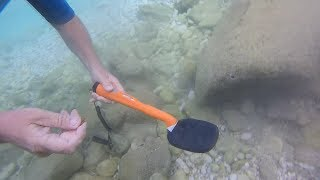 Underwater Metal Detecting! Beautiful Location (Deteknix Scuba Tector)