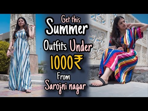 GET THIS AMAZING SUMMER OUTFITS UNDER 1000 RUPEES FROM SAROJINI NAGAR | DELHI FASHION | REPEATMY365