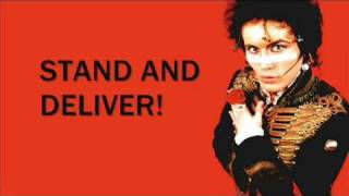 Adam & the ants - stand and deliver lyrics