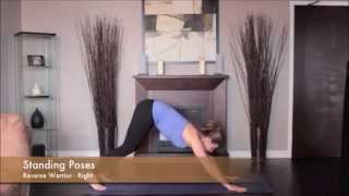Yoga Reverse Warrior Pose Right