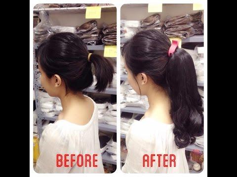 Cách cột tóc giả (How to use Ponytail extension)