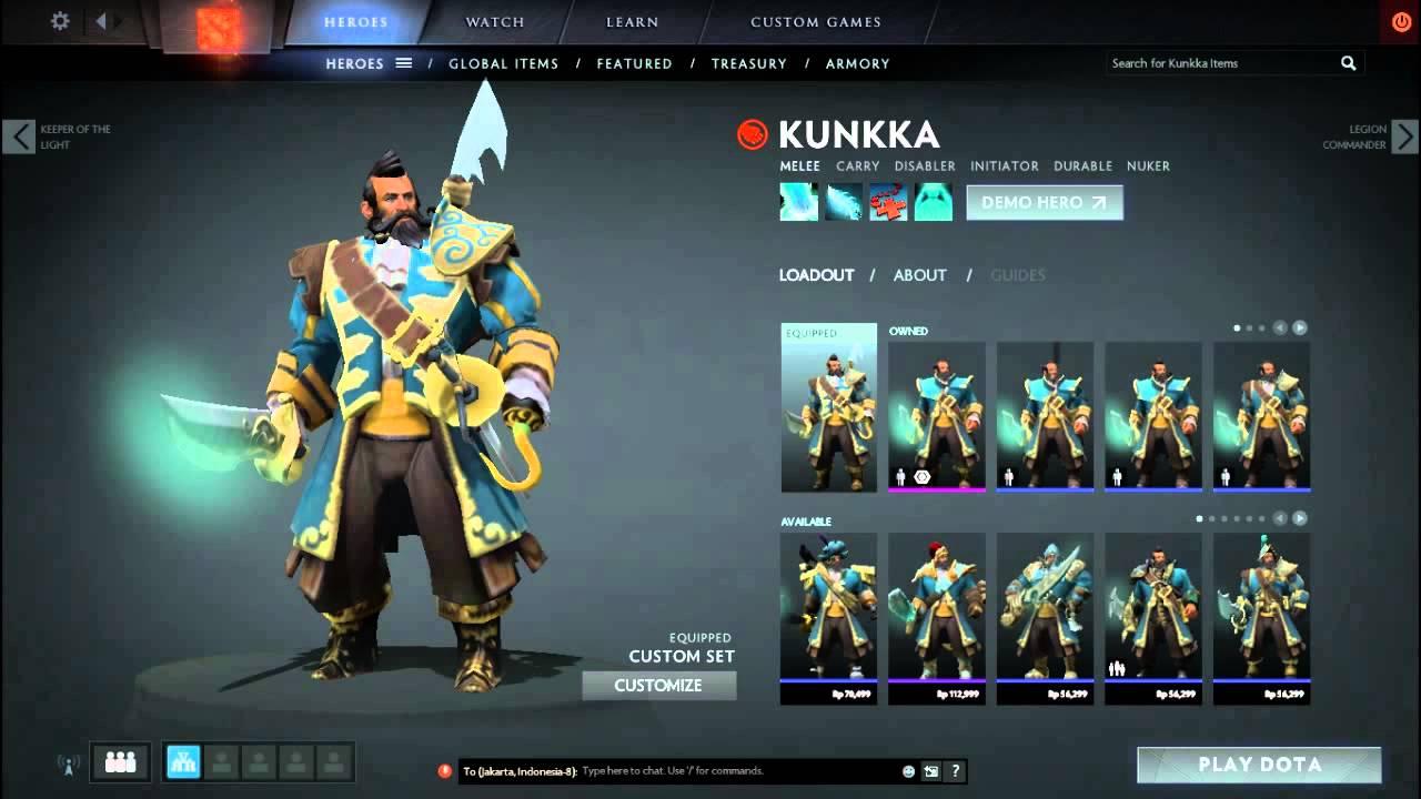 Kunkka Cheap Mix Set Admiral Fancy With Divine Anchor