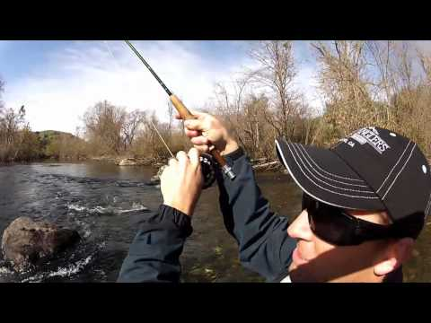 Lower Stanislaus River Fly Fishing - GoPro HD