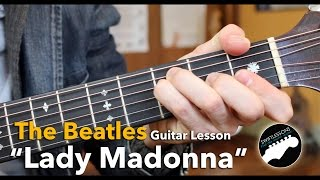 """Lady Madonna"" Beatles Acoustic Guitar Lesson"