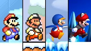 Evolution of Snow Levels in 2D Super Mario Games (1988-2019)