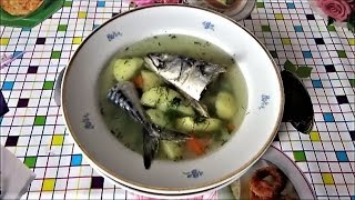 УХА из скумбрии. Рыба очень нежная бульон вкусный. Суп варится быстро за 20-25 мин. Скумбрия Омега 3
