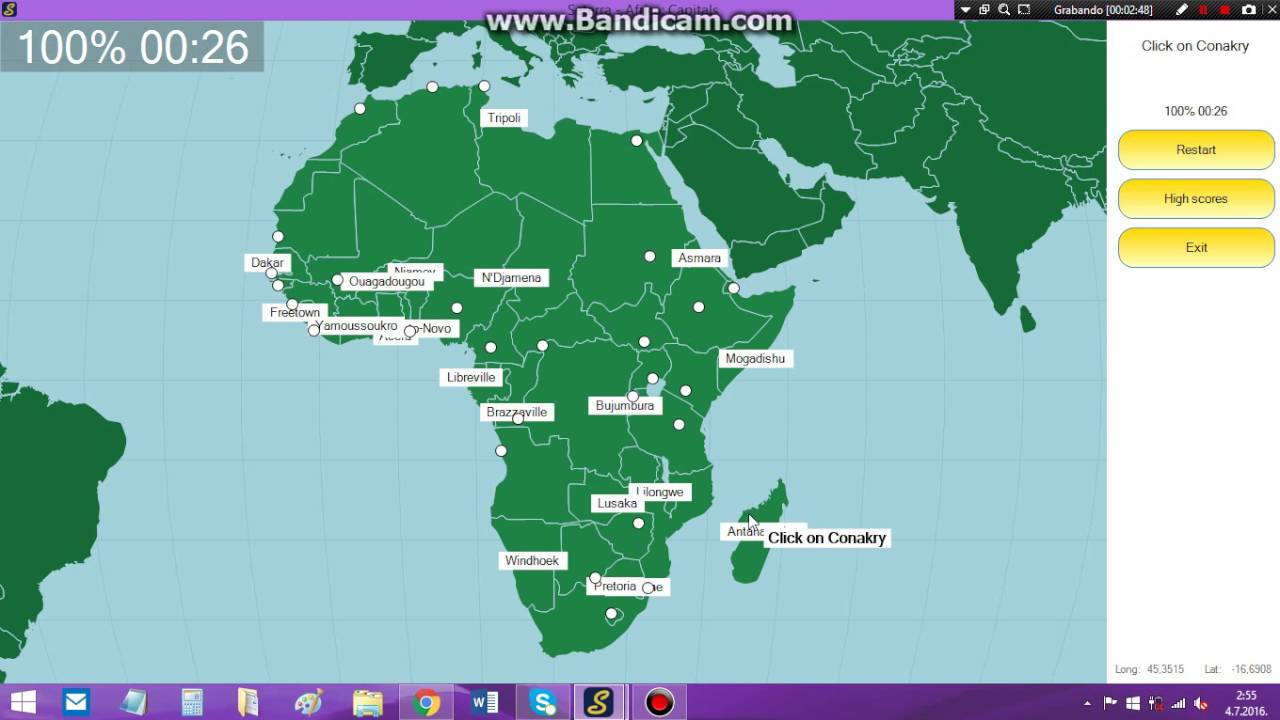 africa map test seterra