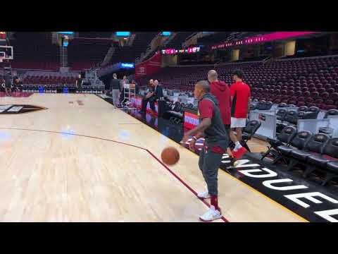 Isaiah Thomas does some full-court pregame work for Cavaliers | ESPN