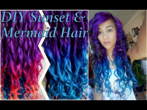 How To Sunset Amp Mermaid Hair Ombre Tutorial