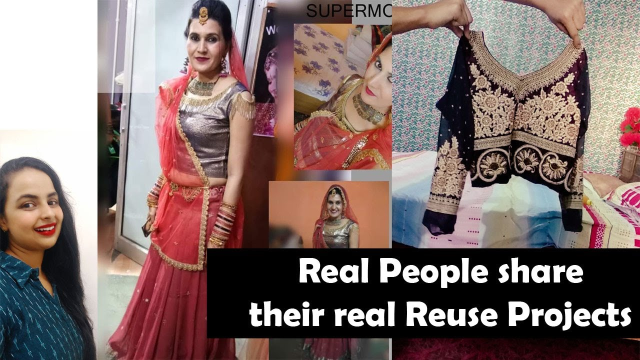 Indian Women Reusing old clothes for New outfits and Home decor