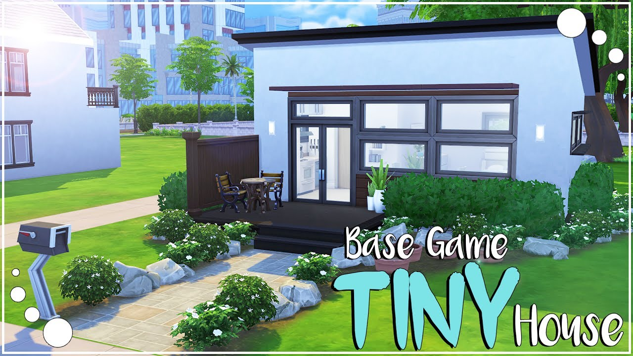 Base Game Tiny House The Sims 4 Speed Build Youtube
