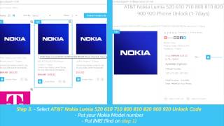 How to Unlock Nokia Lumia by Unlock Code (520 610 710 800 810 820 900 920 1020 1520)