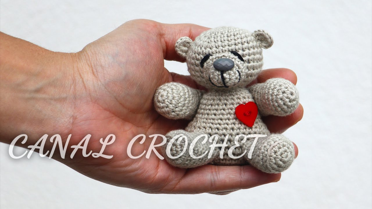 Amigurumi Bear Tutorial : osito amigurumi tutorial - YouTube