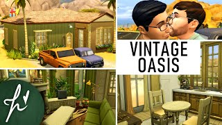 VINTAGE OASIS - BASE GAME || The Sims 4: Speed Build