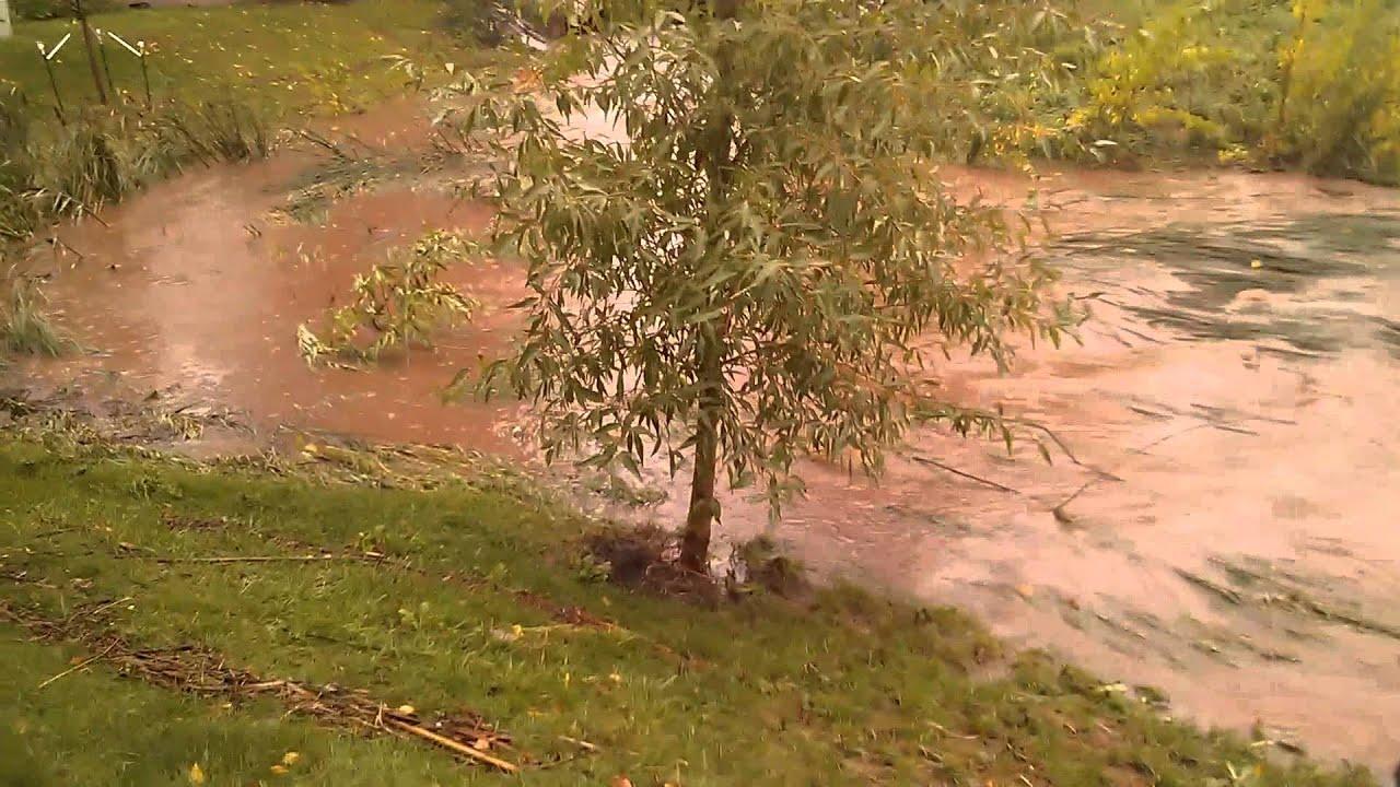 Flooded Creek on Glenwood & 28th St (Boulder)