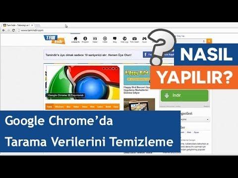 Google Chrome'da Tarama Verileri Nasıl Temizlenir?