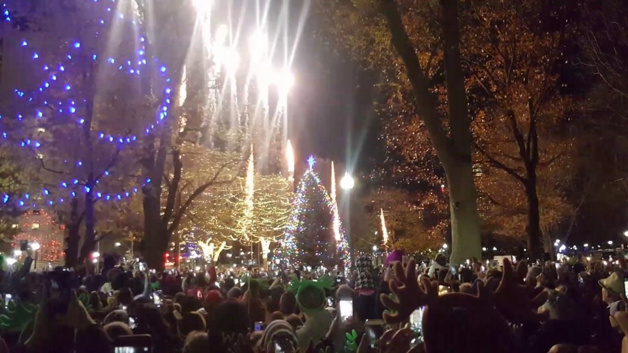 Boston Christmas Tree Lighting 2016 YouTube - Boston Christmas Tree Lighting