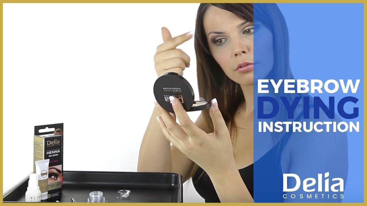 Eyebrow dying instruction - YouTube