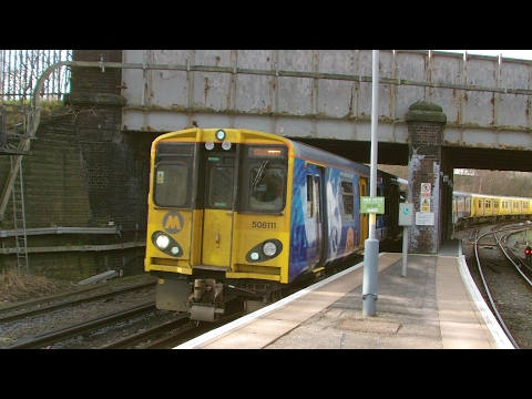 Half an Hour at (216) - Birkenhead North Station 10.2.2017 - Class 507 508 terminus