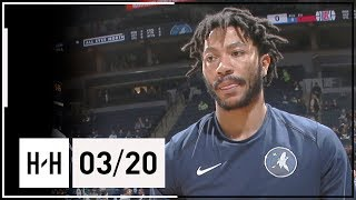 Derrick Rose Full Highlights Wolves vs Clippers (2018.03.20) - 9 Points
